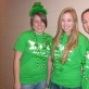 The girls getting decked out in St. Patty's gear!
